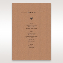 Golden Country Lace With Twine reception table menu card stationery