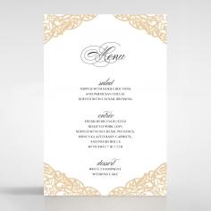 Golden Floral Lux reception menu card stationery