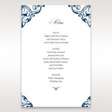 Graceful Ivory Pocket table menu card stationery design