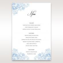 Graceful Wreath Pocket menu card stationery design
