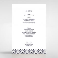 Gradient Glamour wedding reception table menu card