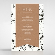 Graffiti wedding reception menu card design