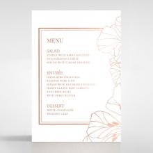 Grand Flora menu card stationery design