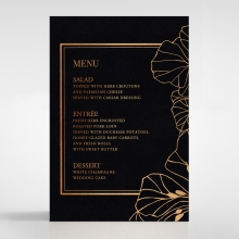 Grand Flora wedding menu card