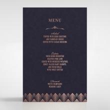 GrMDient Glamour wedding reception menu card