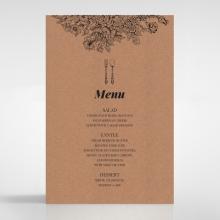 Hand Delivery wedding venue menu card