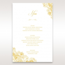 Imperial Glamour with Foil reception table menu card stationery