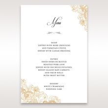 Imperial Glamour without Foil reception table menu card stationery design