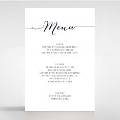 Infinity wedding stationery menu card design