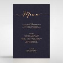 Infinity wedding reception menu card