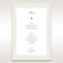 Intricate Vintage Lace wedding stationery menu card