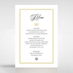 Ivory Doily Elegance table menu card design