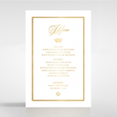 Ivory Doily Elegance with Foil table menu card