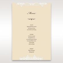 Ivory Victorian Charm wedding table menu card stationery design