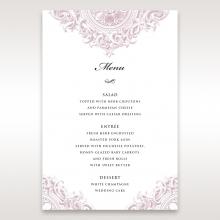 Jewelled Elegance menu card stationery