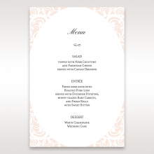 Laser cut Bliss wedding reception table menu card design