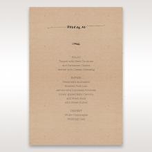 Laser Cut Doily Delight wedding menu card design