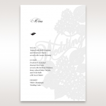 Laser Cut Floral Wedding reception menu card stationery