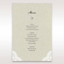 Letters of love wedding menu card stationery item