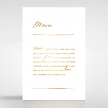 Love Letter wedding table menu card