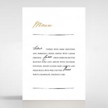 Love Letter wedding table menu card design