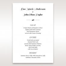 Lovely Lillies wedding venue menu card stationery item