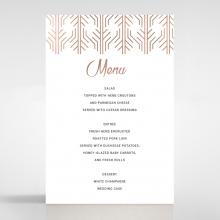 Luxe Rhapsody wedding venue menu card design