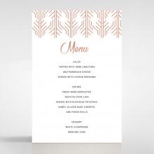 Luxe Rhapsody wedding venue menu card stationery