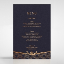 Luxe Victorian table menu card stationery