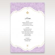 Majestic Gold Floral wedding table menu card stationery item