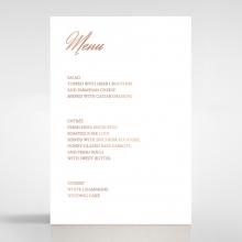 Marble Minimalist wedding reception menu card stationery item