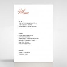 Marble Minimalist wedding venue menu card