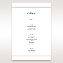 Marital Harmony wedding stationery table menu card