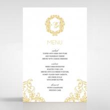 Modern Crest wedding menu card design
