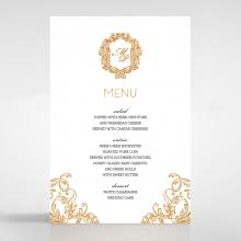 Modern Crest wedding menu card stationery