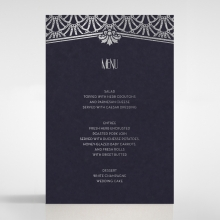 Modern Deco wedding venue table menu card stationery design
