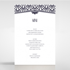 Modern Deco reception table menu card stationery design