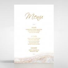 Moonstone wedding table menu card stationery design