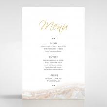 Moonstone wedding table menu card stationery