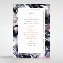 Mulberry Mozaic  with Foil reception table menu card design