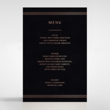 Ornate Luxury reception table menu card stationery item