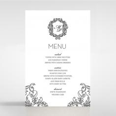 Paper Aristocrat wedding stationery table menu card item