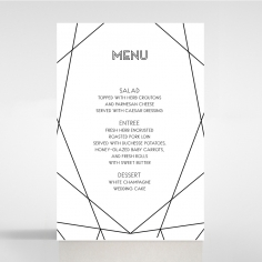 Paper Art Deco table menu card design