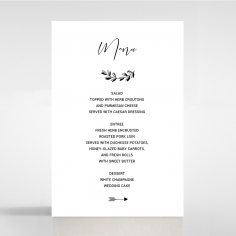 Paper Chic Rustic table menu card stationery