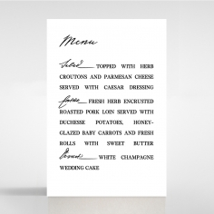 Paper Modern Romance table menu card