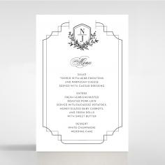 Paper Regal Enchantment wedding table menu card
