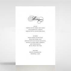 Paper Timeless Romance wedding table menu card stationery