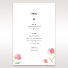 Petal Perfection reception menu card stationery