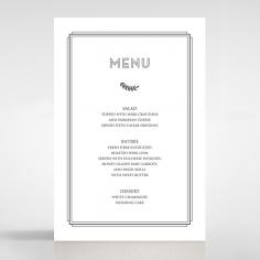 Playful Love menu card stationery design