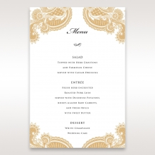 Prosperous Golden Pocket wedding menu card